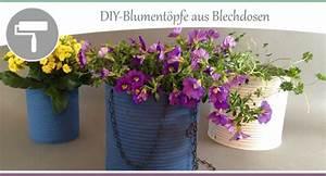 Basteln Mit Blechdosen : basteln mit dosen diy blumentopf aus blechdosen wohncore ~ Orissabook.com Haus und Dekorationen