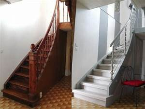 1000 ideas about peinture escalier bois on pinterest With peindre rampe escalier bois 7 maytop tiptop habitat habillage descalier renovation