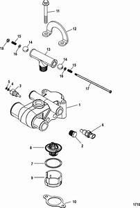 Mercruiser 5 7l Carburetor Ski Thermostat  U0026 Housing Parts
