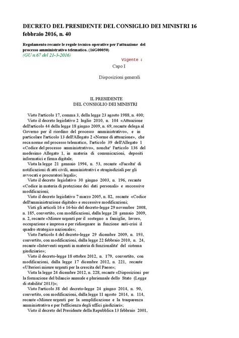 Decreto Presidente Consiglio Dei Ministri by Decreto Presidente Consiglio Dei Ministri 16