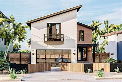 Plan Narrow Plans Lot Modern Coastal Designs