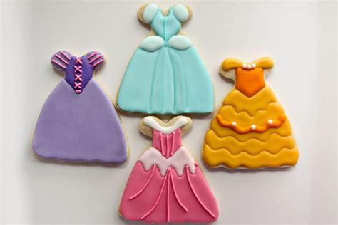 princess dress cookies rebecca cakes bakes
