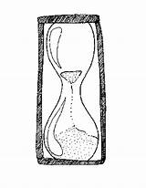 Hourglass Coloring Template Pages Printable sketch template