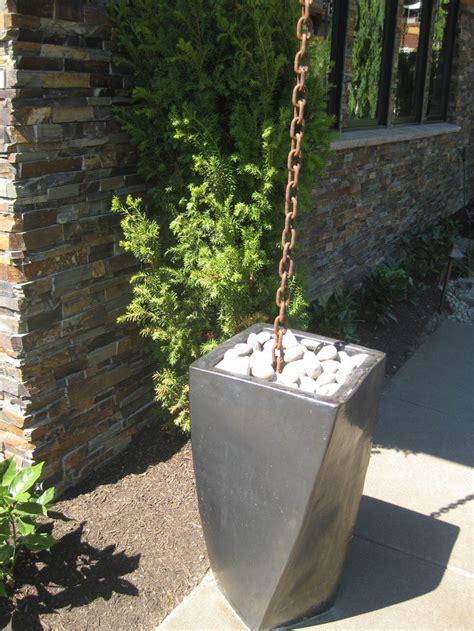 Decorative Gutter Downspout Extensions by Unique Chains Then Unique Chains Barrel