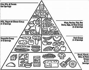 Food Pyramid Coloring Page - Printable Coloring Image