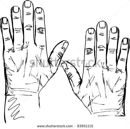 picture   pair  hand drawn hands   vector clip art