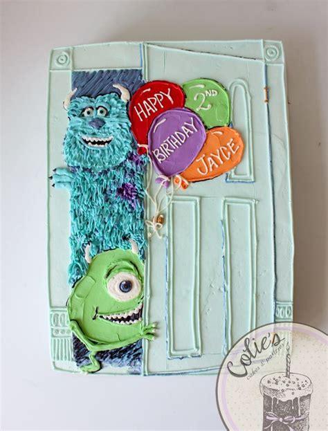monsters  sheet cake mike  sully cake birthday cake