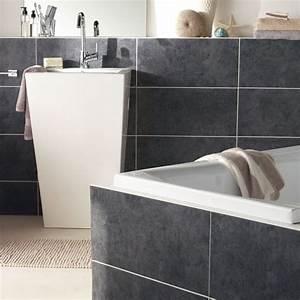 pvc imitation carrelage mural pour salle de bain chaioscom With carrelage adhesif salle de bain avec panneau led photo