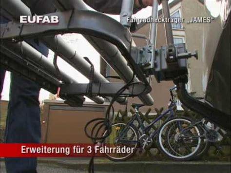 eufab fahrradtraeger kupplungstraeger poker  klappbar