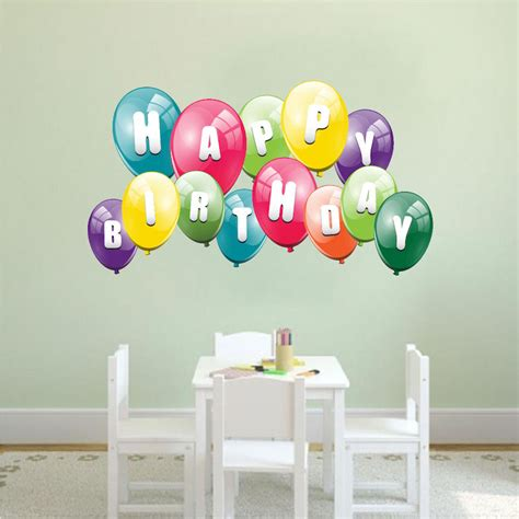 It can be hung up on the wall, behind a cake or birthday boy or girl, literally you can put it anywhere. Balloon Birthday Wall Decal - Birthday Murals - Primedecals