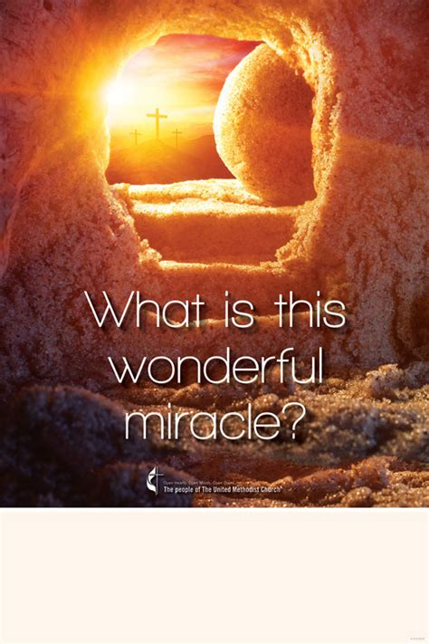 umc easter wonderful miracle poster church invitations