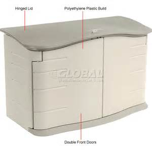 buildings storage sheds sheds plastic rubbermaid horizontal storage shed fg374801olvss 47