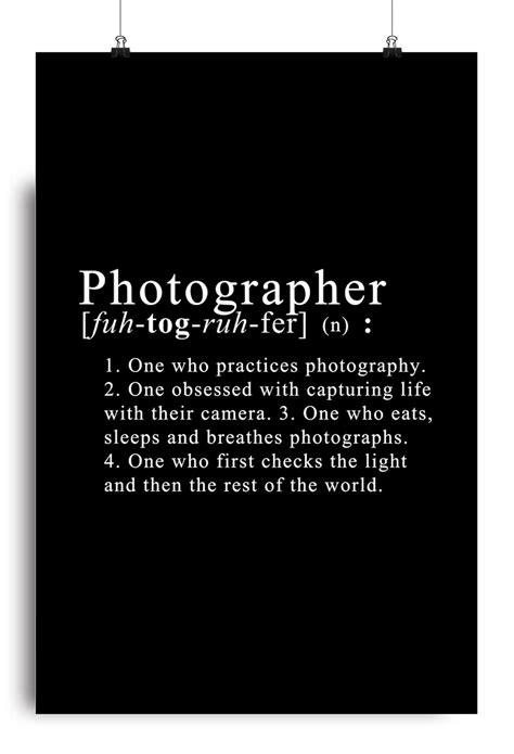 Photographer Definition Poster Hobbygiri