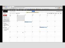 Google Calendar Tutorial 2013 Sharing Calendars YouTube
