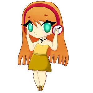 Chibi Anime Girl with Headphones