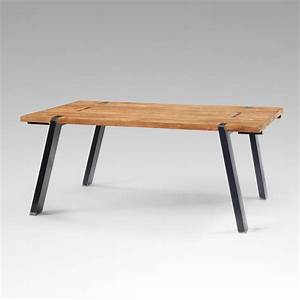 Table Salle A Manger Extensible Teck Table Industrielle