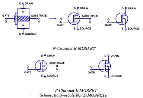 Mosfet Circuit Symbols Free Electronics Circuits