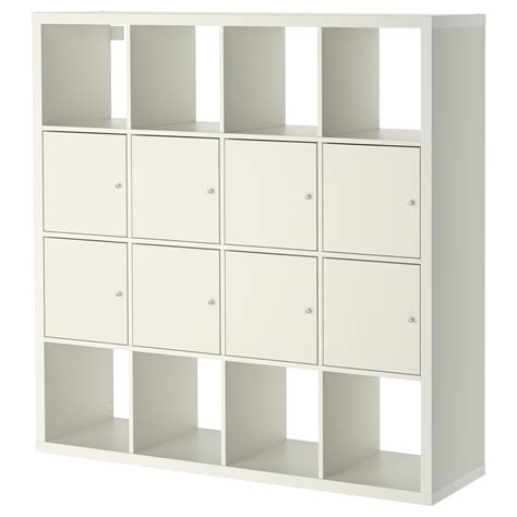 white storage unit ikea kallax shelving unit with 8 inserts white 147x147 cm ikea