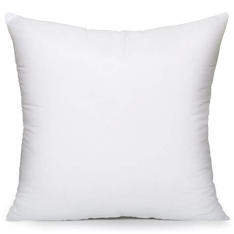 Square Pillows by Acanva Hypoallergenic Pillow Insert Form Cushion Sham