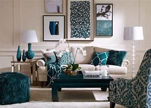 Deco Mural Salon : du bleu dans le salon cocon d co vie nomade ~ Teatrodelosmanantiales.com Idées de Décoration