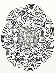 Traditional Dragon Celtic Knot Coloring Page by ...
