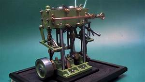 Model Steam Engine Twin Cylinder Launch Marine Engine