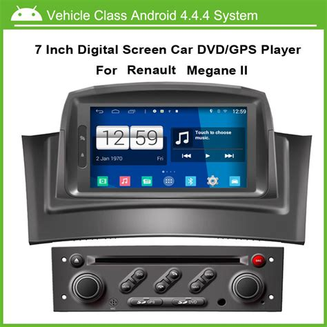 android car dvd player for renault megane 2 fluence 2002 2008 with gps navgation speed 3g