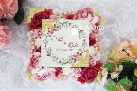 Kartu Ucapan Eksklusif kotak cincin kayu eksklusif anaria wedding surabaya