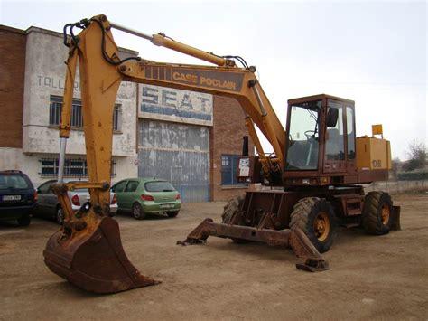 case poclain  p al wheeled excavators year