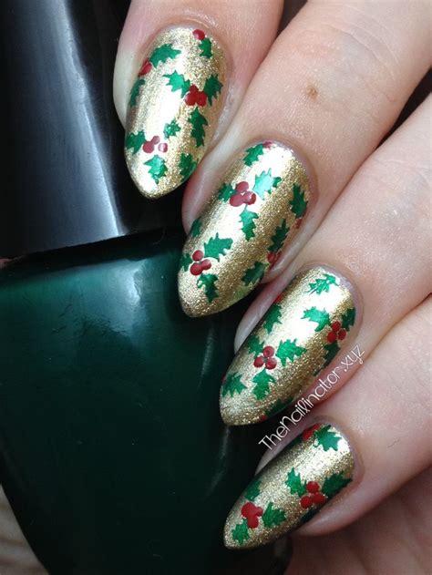 holly jolly christmas stamping nail art  nails