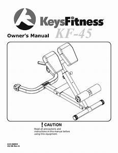 Strength Training Equipment Kf-45 Manuals
