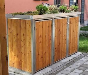 Gartenschrank Selber Bauen : mulltonnenbox holz mit pflanzdach ~ Whattoseeinmadrid.com Haus und Dekorationen