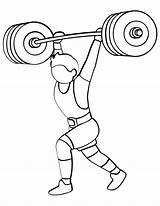 Weight Lifting Barbell Clipart Coloring Training Printable Cartoon Onlinecoloringpages Sheet Webstockreview sketch template
