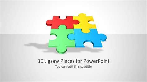 jigsaw piece shapes  powerpoint slidemodel