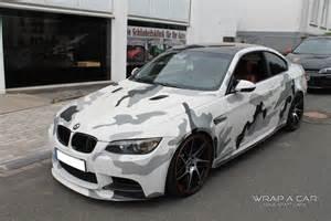 autofolierung design bmw m3 camouflage folierung