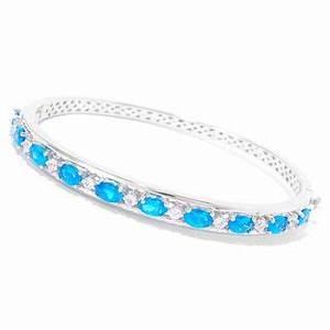 Sterling Silver Neon Apatite White Zircon Bracelet Free