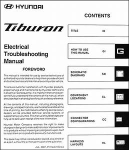 2003 Hyundai Tiburon Electrical Troubleshooting Manual Original