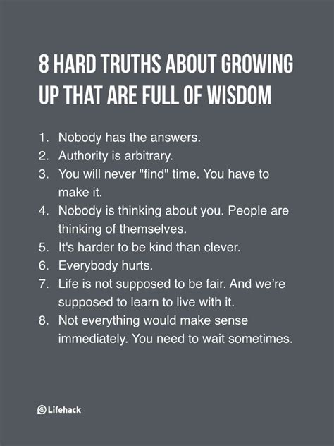 8 Brutal Truths About Growing Up That Are Really Well Said ...