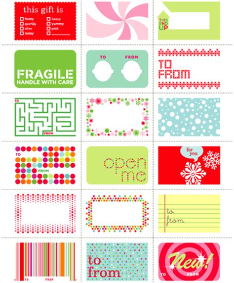 free christmas labels one of a free printable gift tags