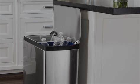 dual trash cans  compartment recycling bins