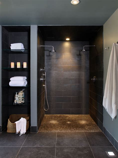 designs for bathrooms walk in shower designs for small bathrooms brown