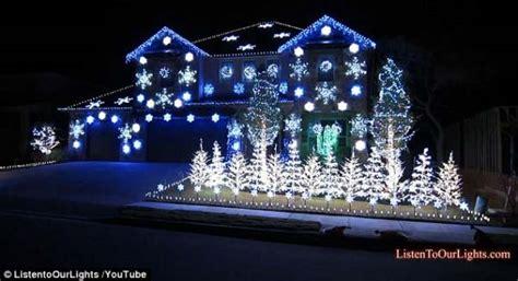 light blue outdoor christmas lights top 46 outdoor christmas lighting ideas illuminate the