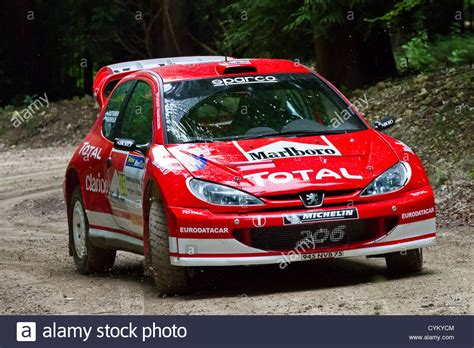peugeot 206 rally 2003 peugeot 206 wrc rally car with driver james tannahill
