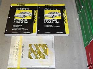 1993 Toyota Corolla Service Repair Shop Workshop Manual