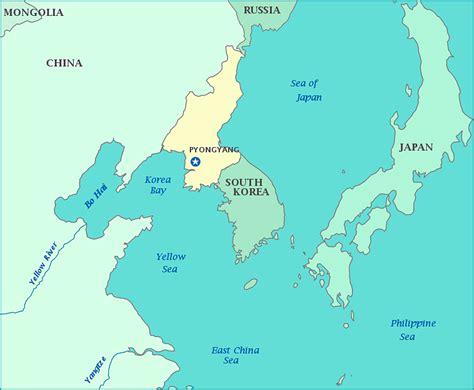 map  north korea