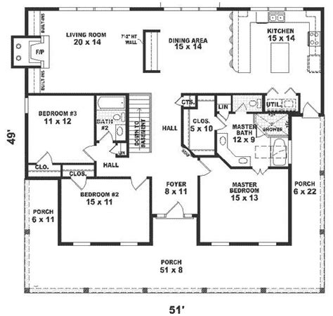 1500 square house plans one house plans 1500 square 2 bedroom