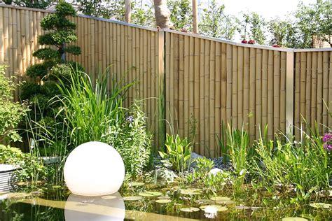 Bambus Zaunelemente, Moderner Sichtschutz