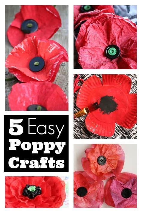 5+ Easy Poppy Crafts For Kids To Make For Veterans Day And