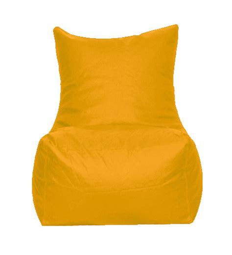 pebbleyard yellow bean bag chair with beans by