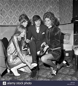 Girls around George Best. L-R Sherry N Fisher (18 ...